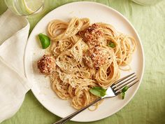A collection of healthy pasta dinner recipes from Food Network chefs like Anne Burrell, Giada De Laurentiis and Ellie Krieger.