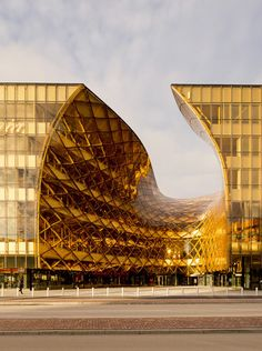 Emporia, a gigantic #golden #shopping_center in Malmö, Sweden designed by Wingårdhs - #contemporary #commercial #architecture