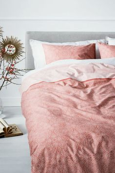 Patterned duvet cover set - Light coral - Home All | H&M IE 1