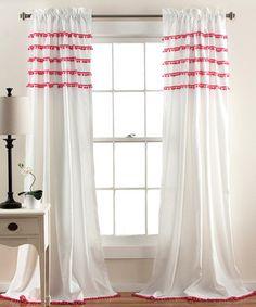 Look at this #zulilyfind! Pink Quinn Window Panel #zulilyfinds