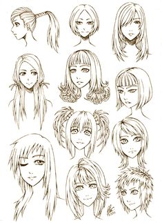 Incredible Cartoon Hairstyles And How To Draw On Pinterest Hairstyles For Women Draintrainus