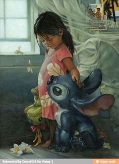 Lelo and Stitch in real life.