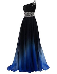 New Arrival One Shoulder Beaded Long Prom Dress Custom Made Women . - New Arrival One Shoulder Beaded Long Prom Dress Custom Made Women Party Dresses Custom Bridesmaid P - Chiffon Evening Dresses, Formal Evening Dresses, Ball Dresses, Ball Gowns, Evening Gowns, Evening Party, Dress Formal, Formal Prom, Formal Gowns