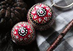 Hand painted mandala balls key chain