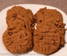 Teff-Almond Butter-Chocolate Chip Cookies: gluten-free, dairy-free, soy-free; high in fiber and iron; delicious & healthy treats!