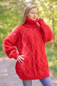 Thick Sweaters, Cable Knit Sweaters, Mohair Sweater, Going Vegan, Knitting Designs, Hand Knitting, Online Price, Jumper, Turtle Neck