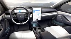 Here's how the 2021 Ford Mustang Mach-E design came together Ford Mustang, Mustang Logo, Mustang Girl, Convertible, Volkswagen Up, Interior Sketch, Interior Design, Latest Cars, Ford Models