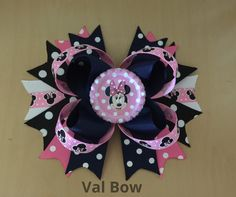 A personal favorite from my Etsy shop https://www.etsy.com/listing/251133848/minnie-mouse-hair-bow-minnie-mouse