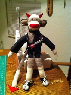 brian johnson sock monkey acdc my sewing projects pinterest brian johnson. Black Bedroom Furniture Sets. Home Design Ideas
