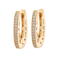 YAZILIND 18K Gold Plated Cubic Zirconia Hoop Earrings for Women Jewelry Gift -  http://www.wahmmo.com/yazilind-18k-gold-plated-cubic-zirconia-hoop-earrings-for-women-jewelry-gift/ -  - WAHMMO