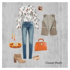 """""""Casual Outfit CRA"""" by claramirezarauzo on Polyvore featuring moda, Hollister Co., Sole Society, Yves Saint Laurent, Armitage Avenue, Henri Bendel, Dasein y GUESS"""