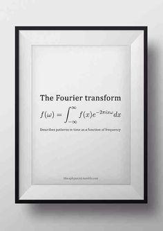 Fourier transform equation.