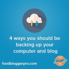 Blog Post: Don't Track Yourself: 4 ways you should be backing up your computer and blog