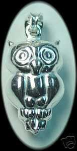 Owl Pendant Charm Animal Celtic Jewelry Silver Sterling Silver 925 Jewelry
