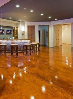 stain concrete floors indoors pictures | How to Prep Concrete Floor ...