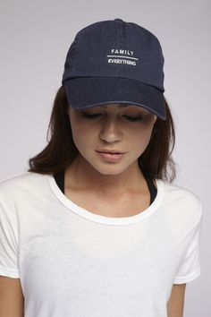 We've created your new go-to dad hat. Classic six-panel silhouette features an embroidered logo at the front along with a curved brim + stitched grommets at the crown. Complete with an adjustable stra