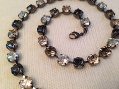 Any Four Colors: Swarovski Crystal Necklace (8mm) by emilytrends on Etsy (sabika inspired)