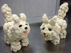 Very cute cauliflower dogs!