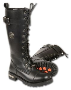 Milwaukee Leather Ladies Tall Motorcycle Boots - Leather Bound Online