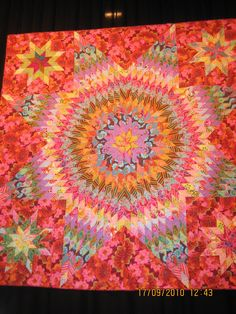 Kaffe Fassett star quilt seen at Saint Marie aux Mines (France).  Posted by Susanpatch (Malaga, Spain)