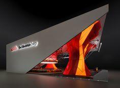 """Red Mountain Energy"" on Behance Kiosk Design, Facade Design, Display Design, Retail Design, Exhibition Stall Design, Exhibition Display, Exhibition Space, Visual Merchandising, Expo Stand"