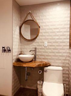 Amazing DIY Bathroom Ideas, Bathroom Decor, Bathroom Remodel and Bathroom Projects to help inspire your master bathroom dreams and goals. Bathroom Styling, Small Bathroom, Rustic Bathroom, Wood Bathroom, Bathroom Decor, French Country Bathroom, House Bathroom, Bathroom Mirror, Rustic Bathroom Vanities