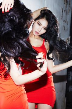 HyunA is a fiery vixen in 'RED' teaser images | allkpop.com (Except she always is one.)