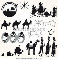 Three Wise men Christmas set vector by Alvaro Cabrera Jimenez, via ShutterStock