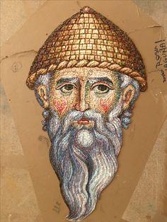 Mosaic Portrait, Byzantine Icons, Art Icon, High Art, Celtic Designs, Orthodox Icons, Religious Art, Mosaic Art, Face Art