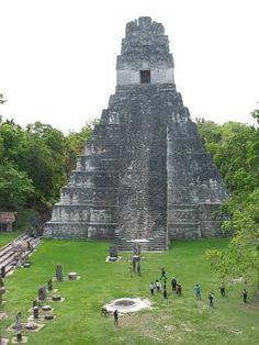 Tikal, Temple of the Great Jaguar in Peten (Guatemala)