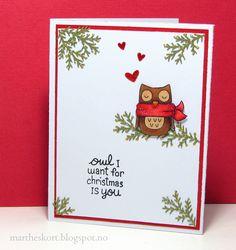 Lawn Fawn - Winter Owl - Christmas card (2)