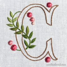 Simple Embroidery Patterns about Embroidery Patterns Step By Step his Simple Embroidery Designs For Tops whether Embroidery Applique Embroidery Alphabet, Embroidery Monogram, Silk Ribbon Embroidery, Crewel Embroidery, Cross Stitch Embroidery, Machine Embroidery, Embroidery Designs, Creative Embroidery, Simple Embroidery