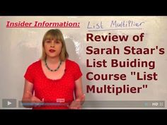 List Multiplier: Review of List Building course by Sarah Staar