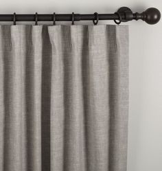 Linen/Cotton Drapery Panel - Gray 50in. x 96in.