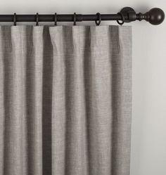 Linen/Cotton Drapery Panel - Gray 50in. x 96in.