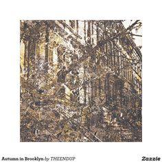 Autumn in Brooklyn Canvas Print