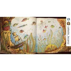 Instagram media desenhoscolorir - Estava doida para ver esse finalizado, amei esse efeito na água. #Repost @celeste_lecaroz with @repostapp ・・・#oceanoperdido #desenhoscolorir #johannabasford #lostocean