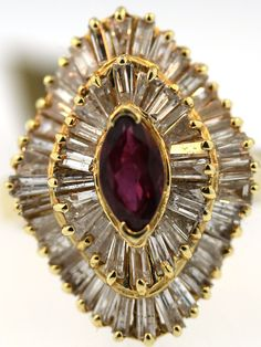 ruby and diamond antique ring