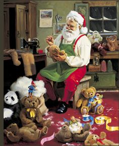 Tom Browning Bearly Christmas Santa Cards