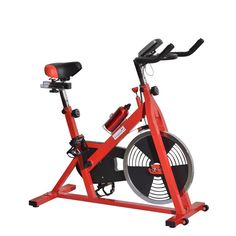 Soozier Upright Stationary Exercise Cycling Bike w/ LCD Monitor - Red Price