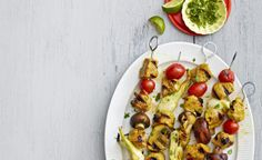 Curry-Lime Pork Kebabs: Dinner is ready in a snap with these flavorful kebabs. Most of the prep work—chopping and marinating—is done ahead, so when it's dinner time, you can just assemble and grill! Lime Recipes, Pork Recipes, Summer Recipes, New Recipes, Favorite Recipes, Grilled Recipes, Sandwich Recipes, Seafood Recipes, Gourmet