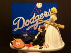 LA Dodgers Baseball or your team Bride and Groom by mikeg1968. My future husband better be understanding