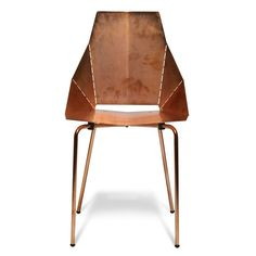 Copper Real Good Chair by Blu Dot.  The Real Good Chair ships flat and folds along laser-cut lines to create a dynamic and comfortable chair