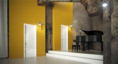 FBP porte | Collezione DEA - Art.40 e Art.41 - Colore: laccata brillante bianca #fbp #porte #legno #laccata #door #wood #varnish