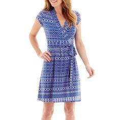 Liz Claiborne Short Sleeve Wrap Dress  found at @JCPenney