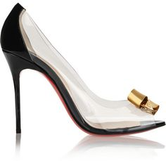 Christian Louboutin Justinodo 100 embellished PVC and patent-leather pumps