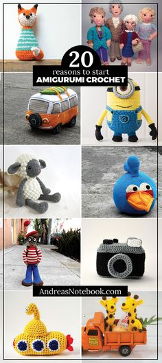 20 amigurumi crochet patterns you'll want