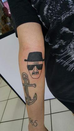 Heisenberg, old bone tattoo