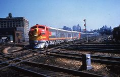 ATSF 42C. San Francisco Chief?? Chicago Ill photographer unkown purchased slide