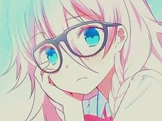 Vocaloid IA I love her songs especially Kagerou Daze (Days)!! Anime Girl | glasses | nerd :P